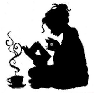320x317 Girl Silhouette For The Love Of Books Girl