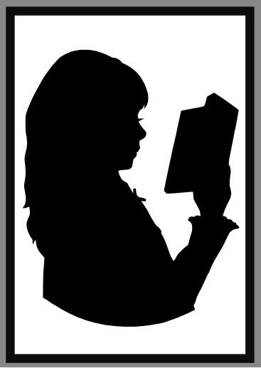 367x517 Items Similar To Reading Child, Single Silhouette, Handcut On Etsy