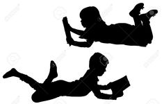 236x150 Boy Reading Book Child Silhouette Die Cut By Simplymadescrapbooks