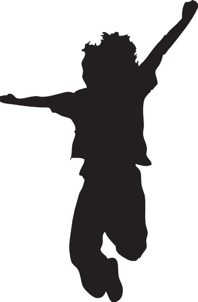 390x594 Jumping Child Silhouette Clip Art