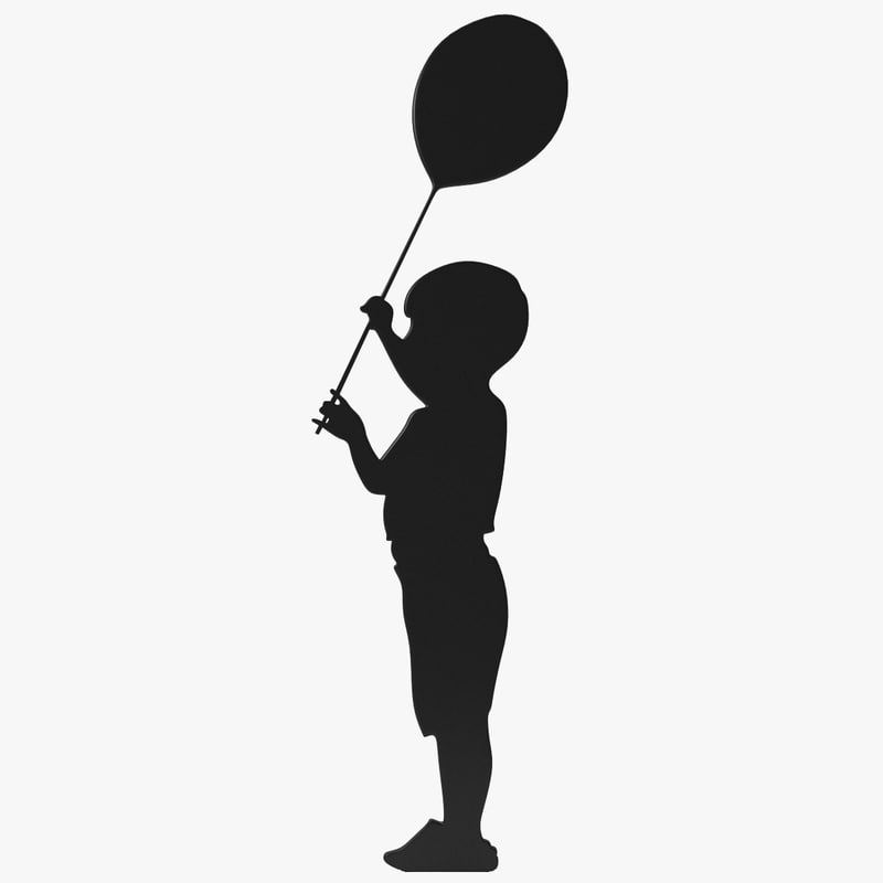 800x800 Balloon Silhouette 3d Model