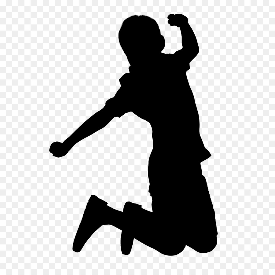 900x900 Child Silhouette Jumping