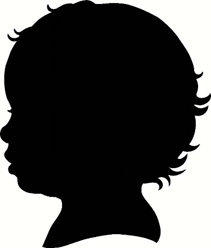425x500 Baby Face Profile, Infant Child Silhouette, Vinyl