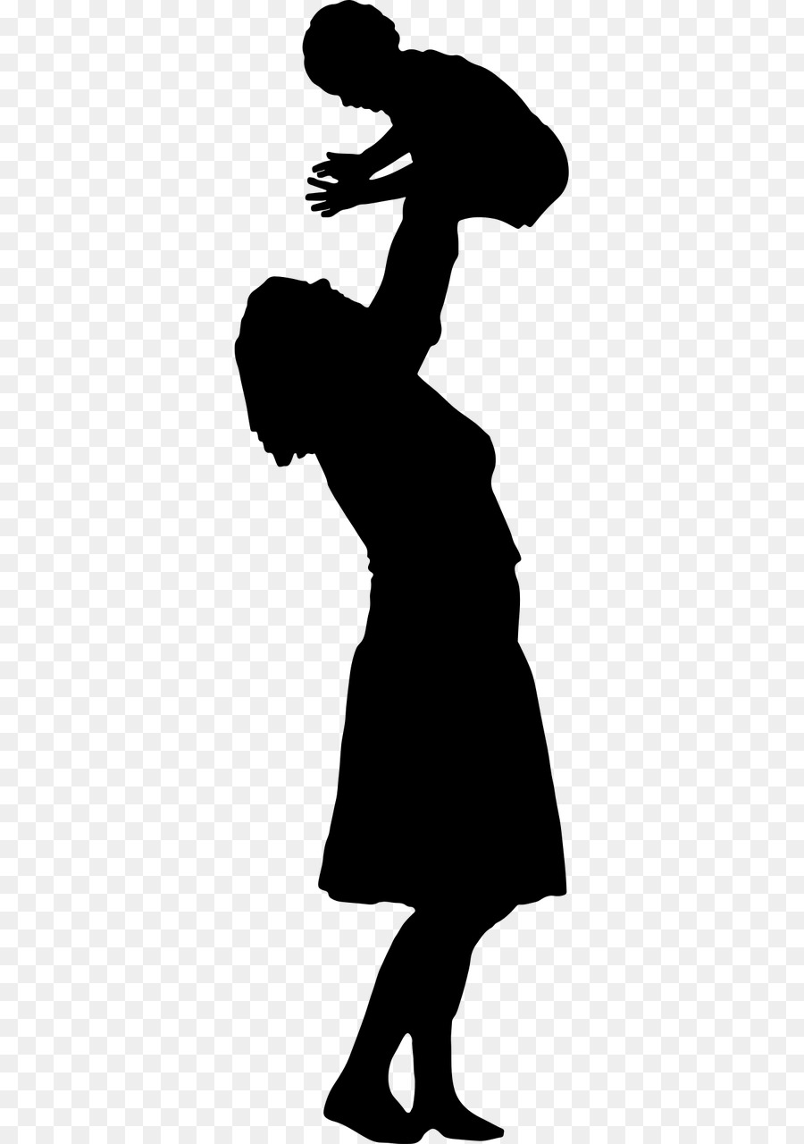 900x1280 Mother Child Silhouette Clip Art