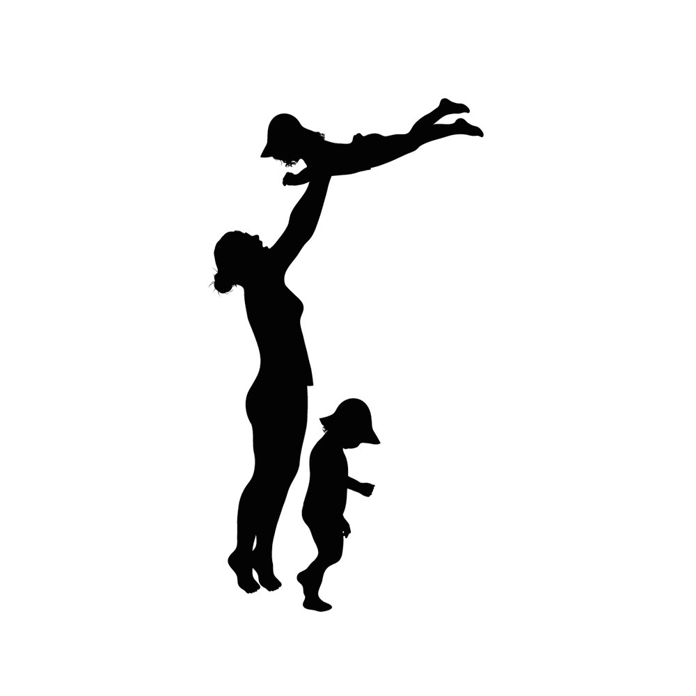 1000x1000 Mother And Child Silhouette Clip Art Free