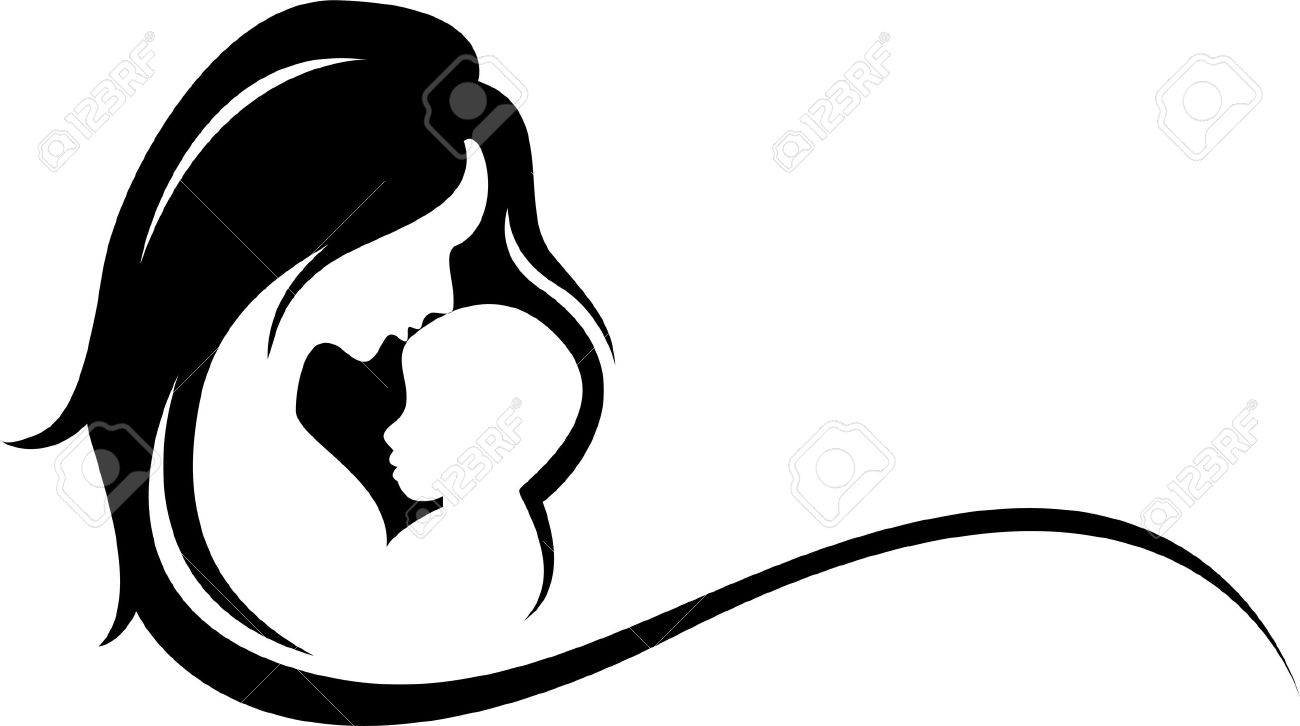 1300x726 Clip Art Mother And Baby Silhouette Royalty Free Cliparts Vectors