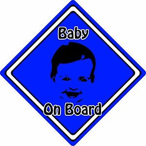 299x300 Babychild On Board Car Sign ~ Baby Face Silhouette ~ Neon Dark