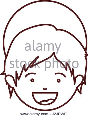300x397 Head Face Baby Boy Son Image Stock Vector Art Amp Illustration