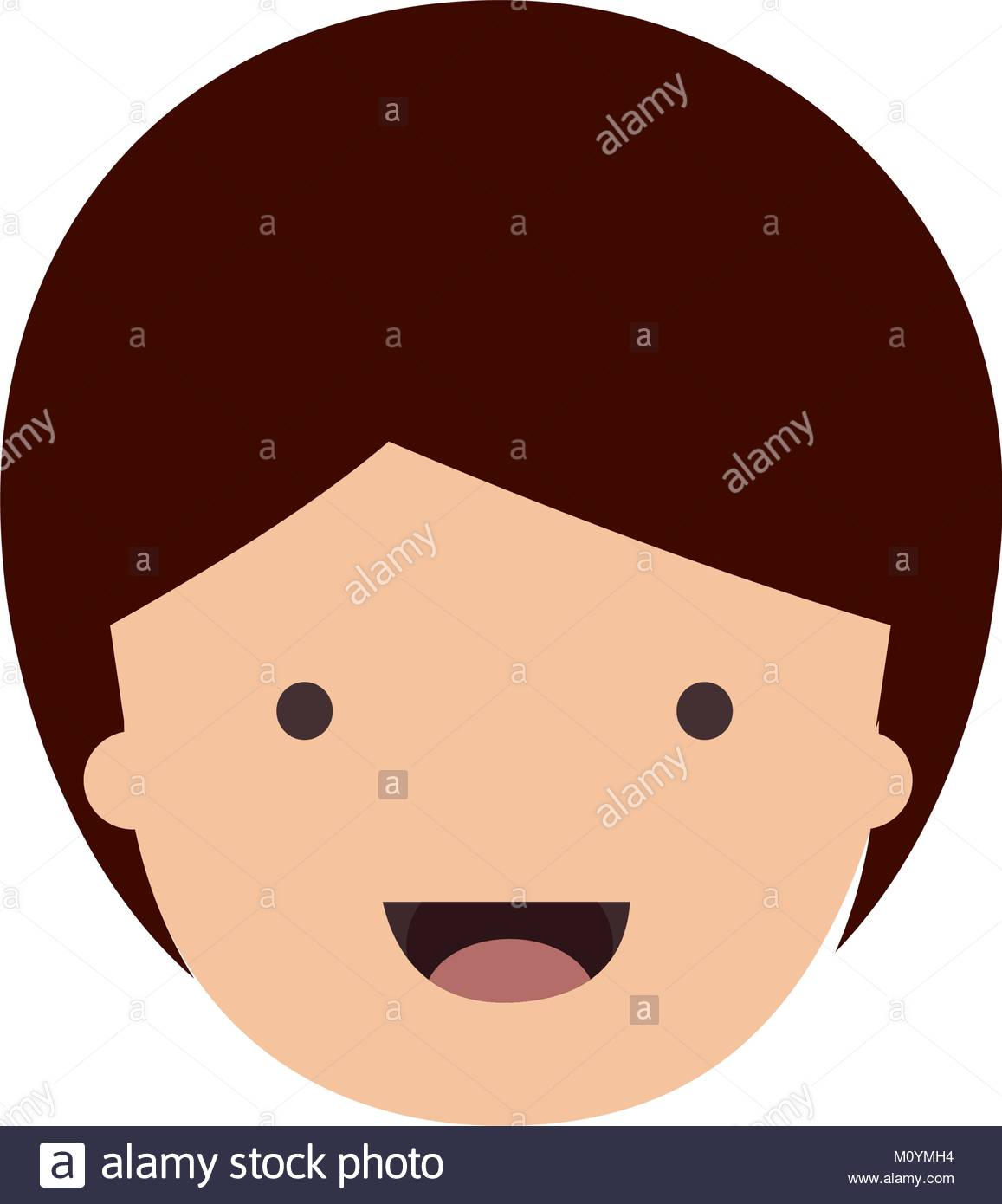 1157x1390 People Graphic Face Of Child With Short Hair In Colorful