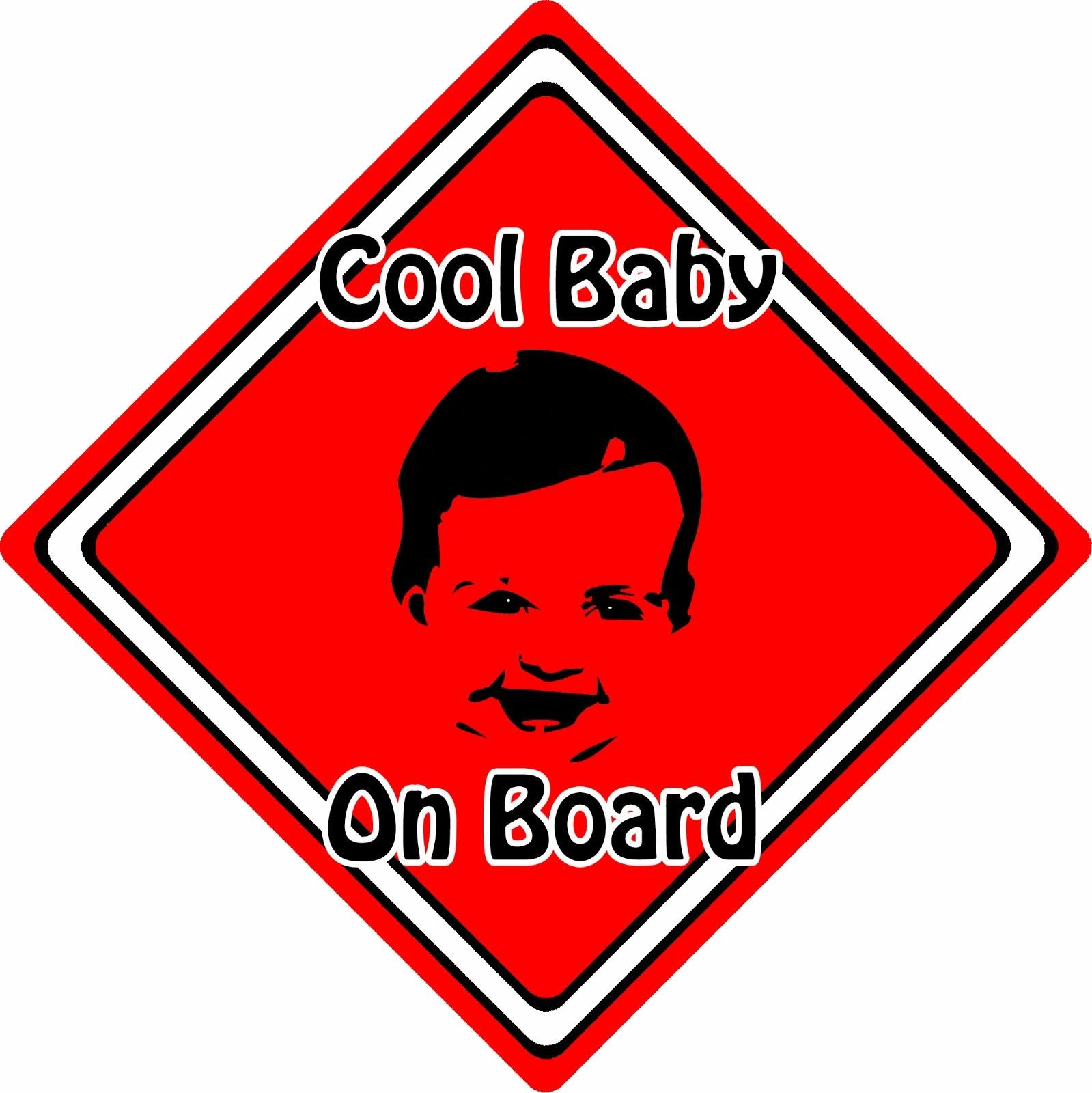 1599x1600 Cool Babychild On Board Car Sign ~ Baby Face Silhouette ~ Neon