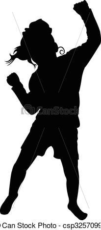 206x470 Dancing Child, Silhouette Eps Vectors