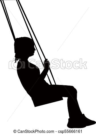 Child Swinging Silhouette