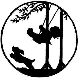 320x316 Free Printable Vintage Silhouette Of Child On Swing Cricut Ideas