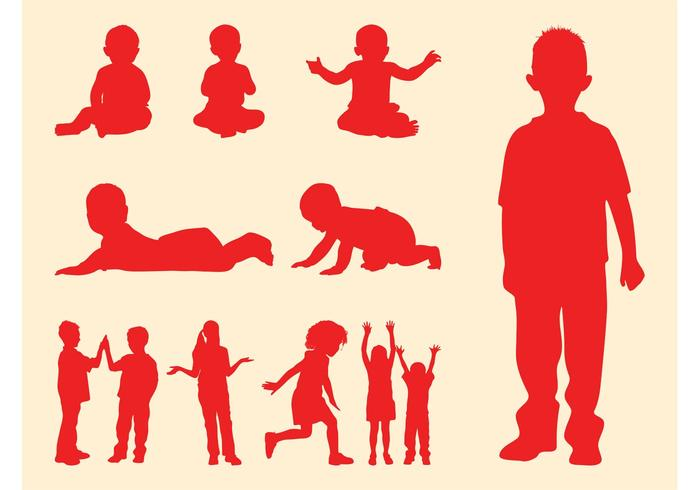 700x490 Kids And Babies Silhouettes