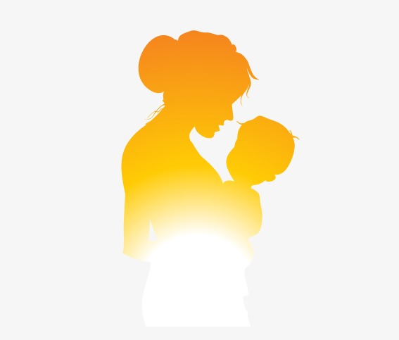 567x483 Mother And Child Silhouette Figures, Mother Vector, Child Vector