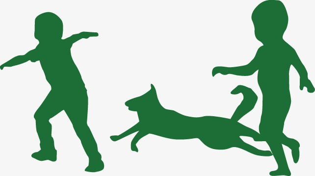 642x359 Silhouette Figures, Green, Character, Child Png And Vector