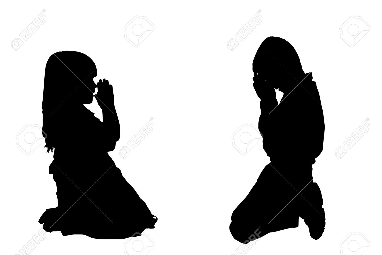 1300x866 Child Praying Silhouette Clipart