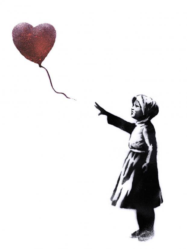 620x827 Banksy Reworks Girl With Heart Balloon To Mark Third Anniversary