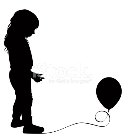 405x439 Child With Balloon Stock Vector