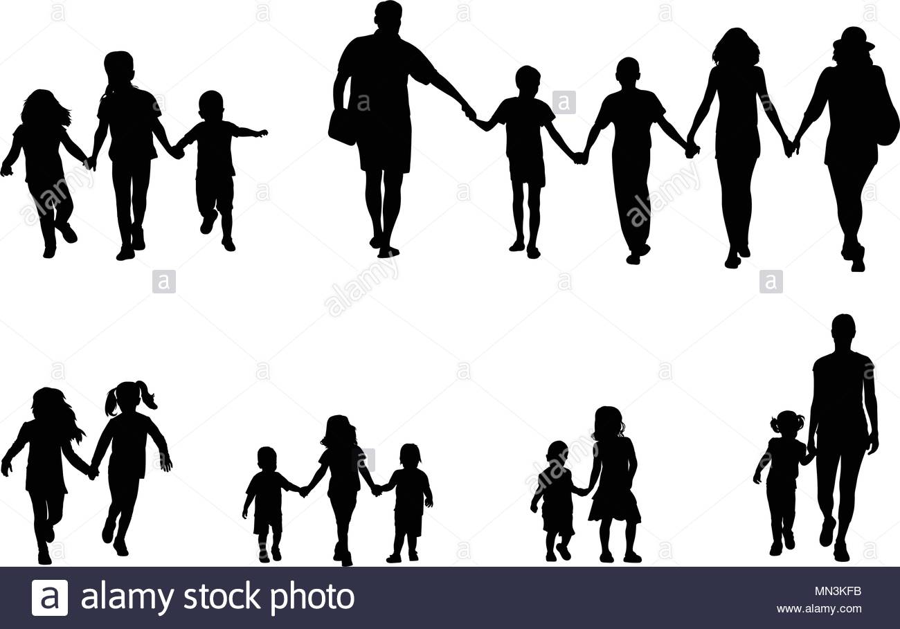 1300x909 Holding Hands Silhouette Stock Vector Images