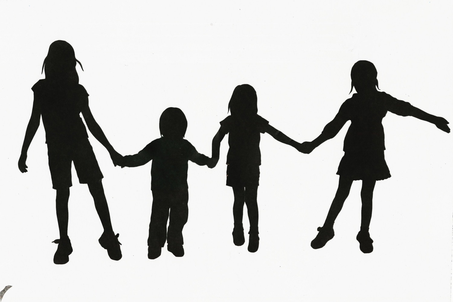 1500x1000 Two Children Holding Hands Silhouette