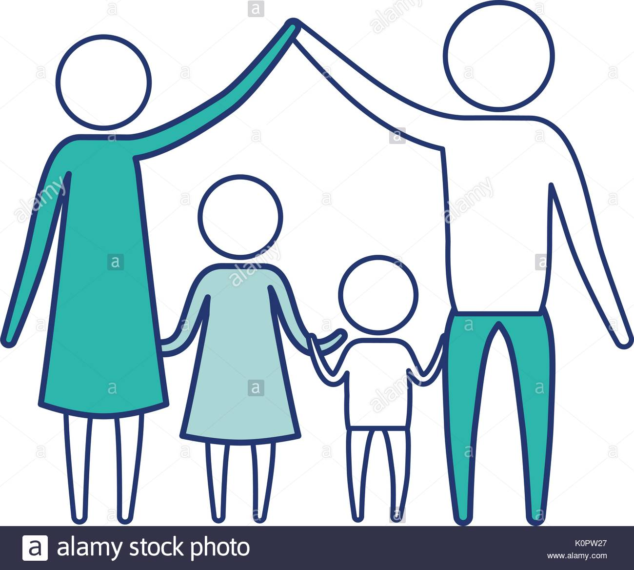 1300x1168 Color Blue Silhouette Of Sections Pictogram Couple Parents Holding