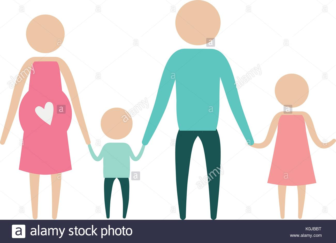 1300x941 Color Silhouette Pictogram Parents With Mother Pregnancy