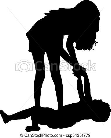 379x470 Children Playing, Silhouette Picture