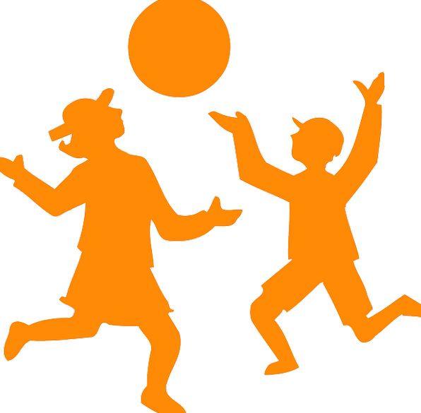 596x585 Children, Broods, Live, Ball, Sphere, Playing, Run, Silhouette