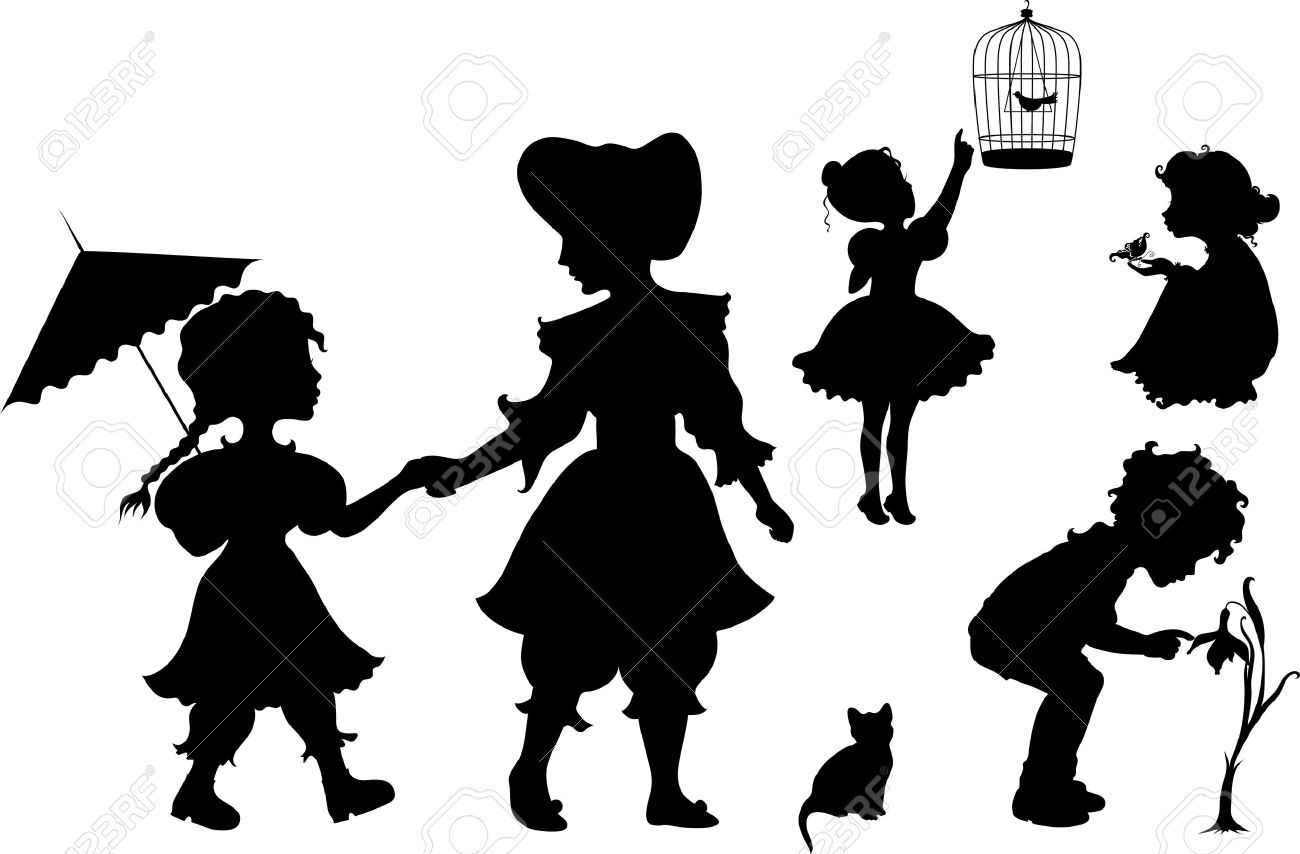 1300x854 Children Playing Silhouette Clip Art 10258 Tweb