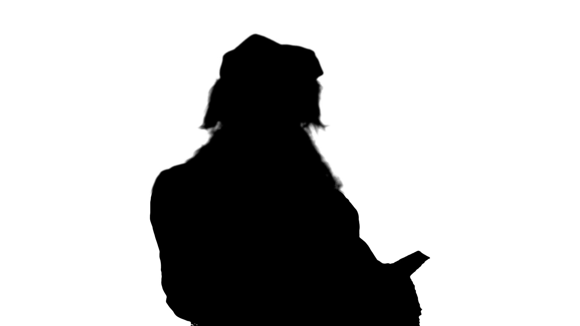 1920x1080 Silhouette Santa Claus Reading Letters From Children Stock Video