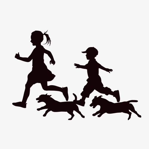 500x500 Children Silhouettes Children Silhouettes Image, Run, Play