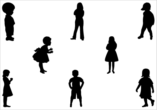 502x351 Silhouette Clipart Child