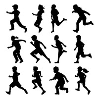 200x200 Background Backgrounds Shape Shapes Silhouette Silhouettes Boy