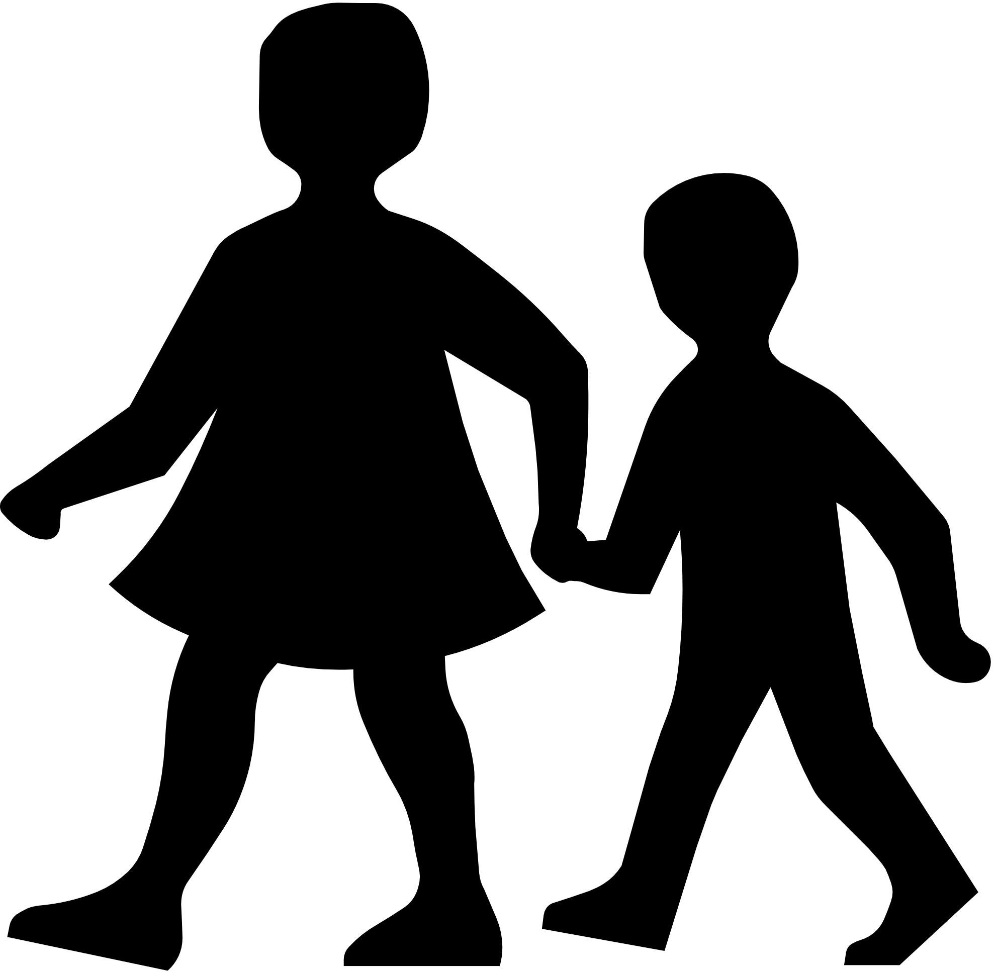 1979x1934 Child Silhouette Man Clipart Black And White