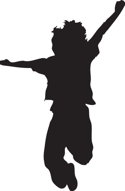 420x640 Happy, Kid, Silhouette, Jumping, Pose, Kids Public Domain