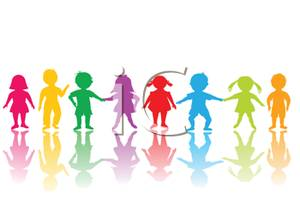 300x200 Art Image A Rainbow Children's Silhouettes