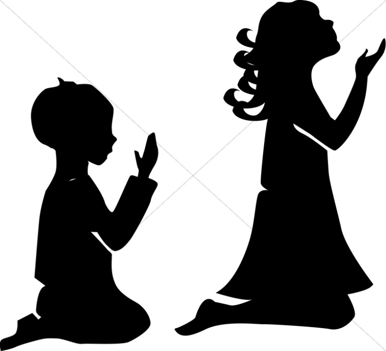 776x706 Child Praying Silhouette Clipart