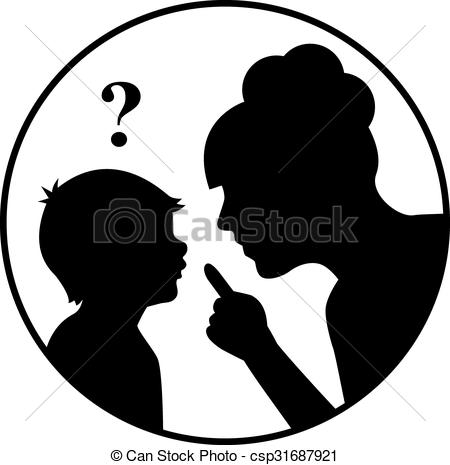 450x465 Mother And Child Silhouette Clipart Collection