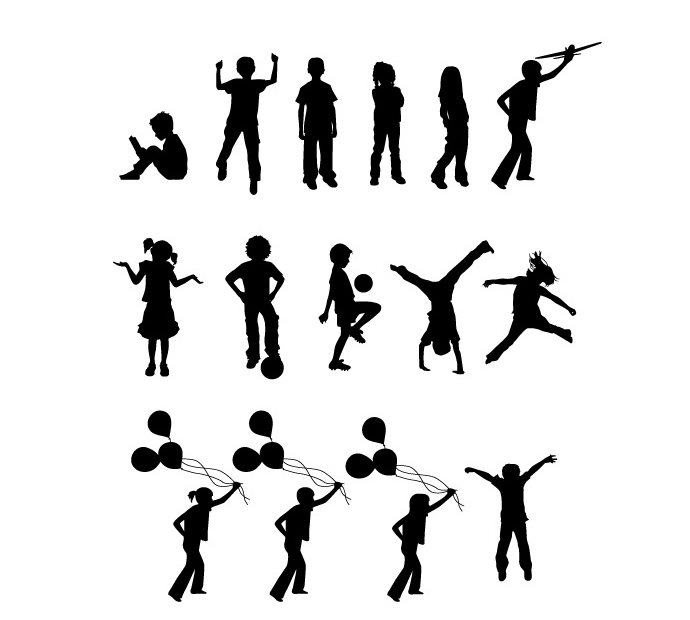 Children Silhouette Free