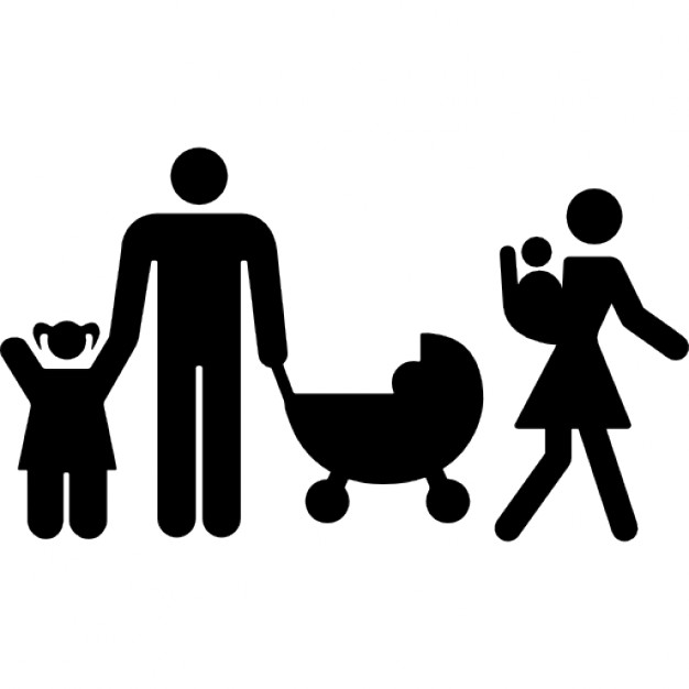 626x626 Family Group Of A Couple With Three Children Icons Free Download