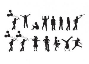 300x217 Free Children Silhouette
