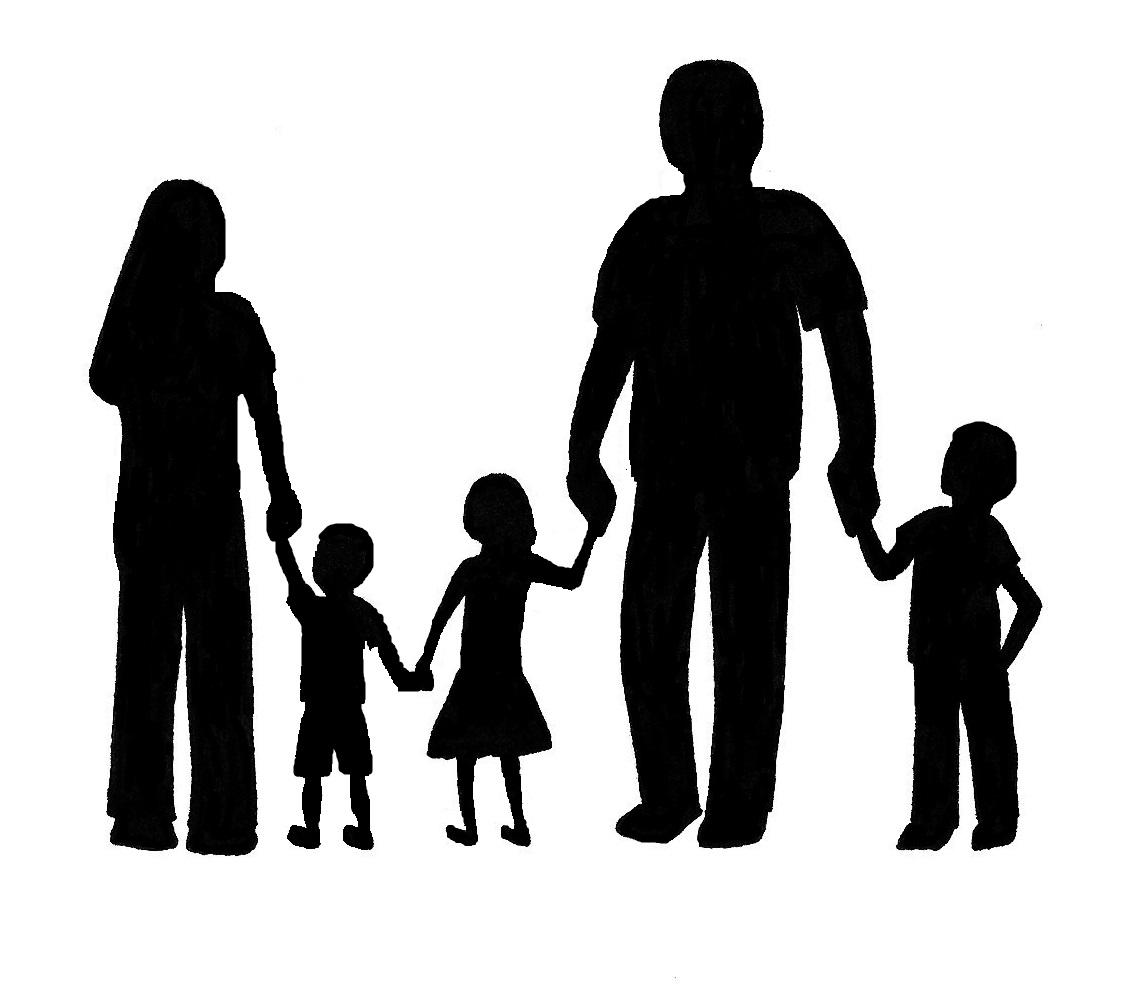 1126x987 Free Clipart Family Silhouette