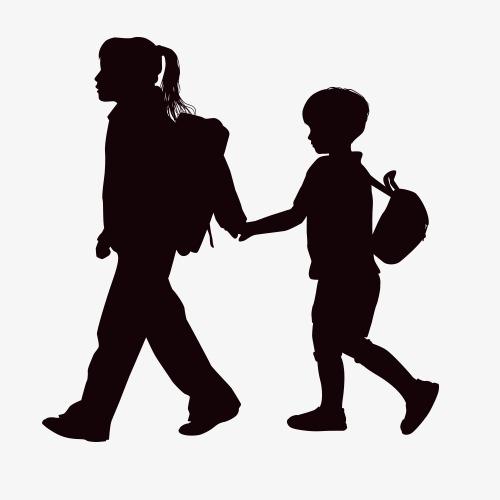 500x500 Children Silhouettes Children Silhouettes Image, Run, Play