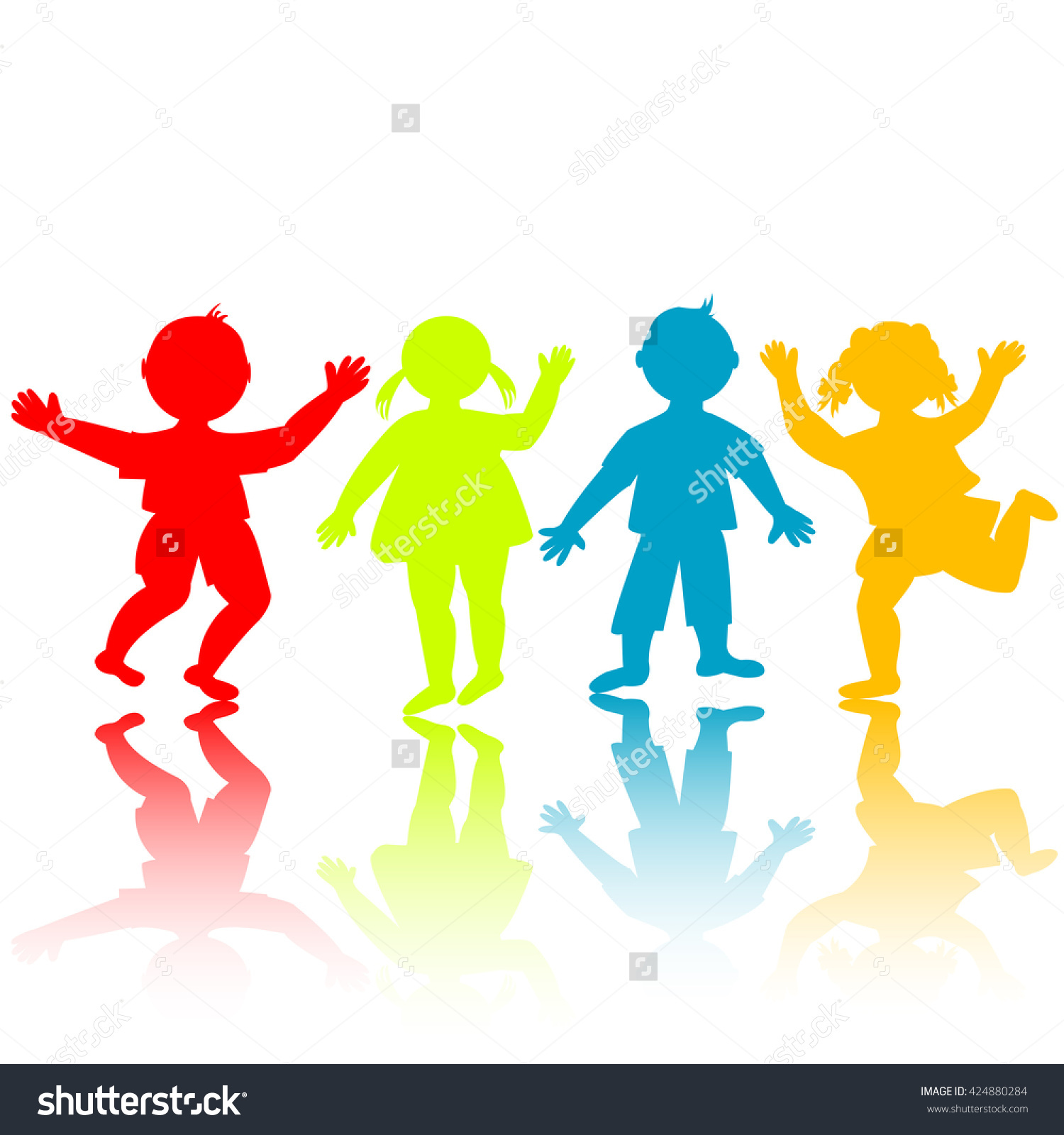 1500x1600 Children Holding Hands Silhouette Color Clipart Collection