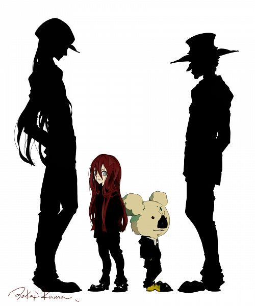 500x600 Tags Anime, Hunter X Hunter, Silhouette, Koala, Kite (Hunter X