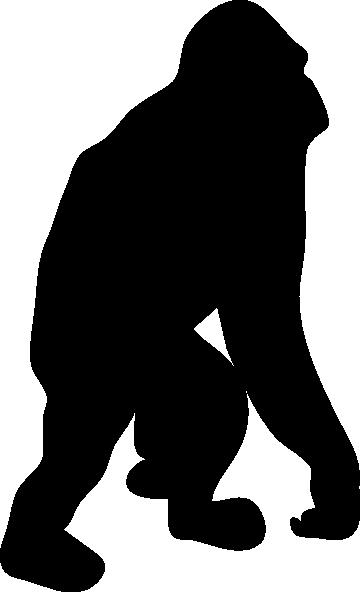 360x592 Orangutan Silhouette Clip Art