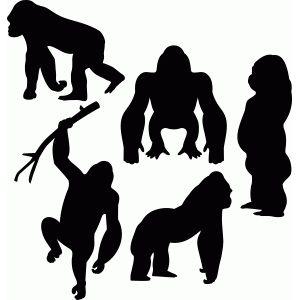300x300 Silhouette Design Store Gorilla Set Silhoutte