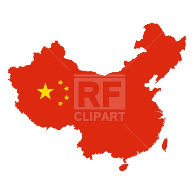 400x400 China Map Outline Royalty Free Vector Clip Art Image