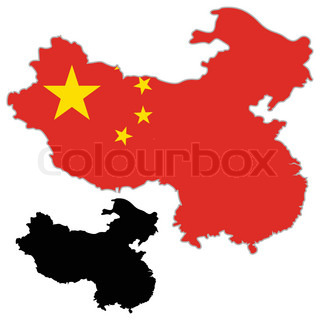 320x320 Color Map Of The Regions And Divisions Of China Stock Vector